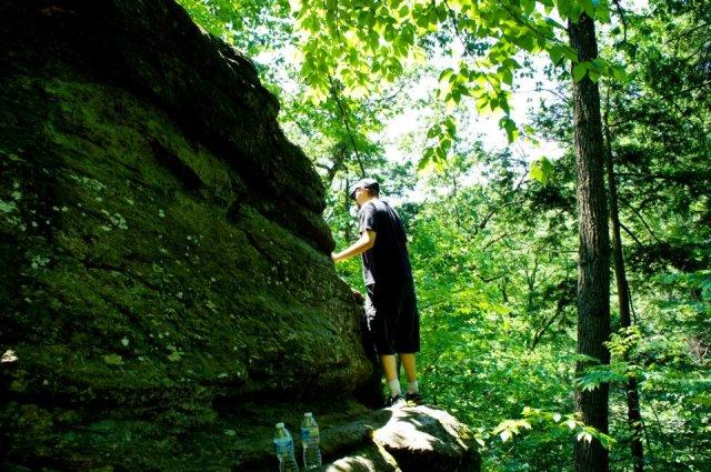 Daniel Climbing Rock