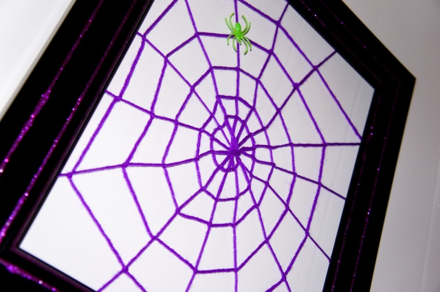 Spider Web Photo Frame Closeup