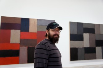 Daniel checking out the Sean Scully gallery