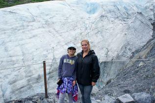 Trinity and Pami with Glacier