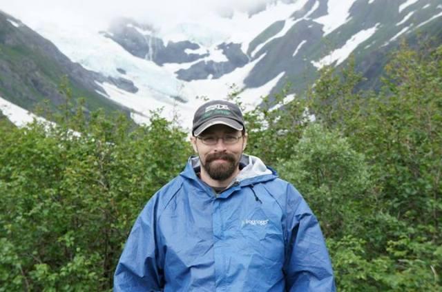 Daniel With Glacier